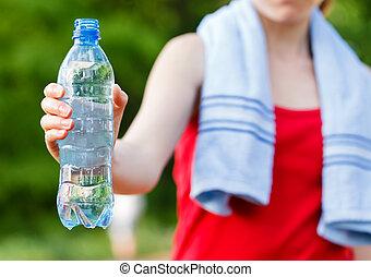 pendant, séance entraînement, hydration
