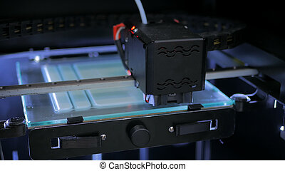 pendant, travail, imprimante, 3d