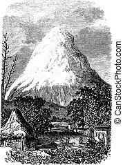 pendant, volcan, 1890s, chimborazo, équateur