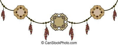 pendant with feathers