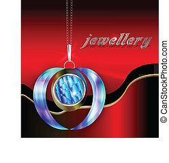 Pendant with metallic chain