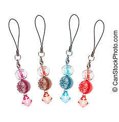 pendants for mobile phone of colored glass. collage - ...
