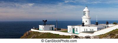 Pendeen Lighthouse Cornwall England UK Europe
