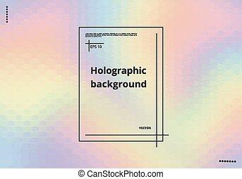 pendenza, holographic, fondo