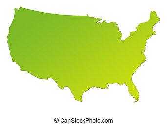 pendenza, mappa, america, verde