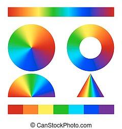 pendenza, multicolor, conico
