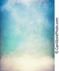 pendenza, nebbia, textured