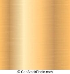 pendenza, oro, metallico