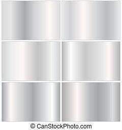 pendenza, set, sfondi, argento