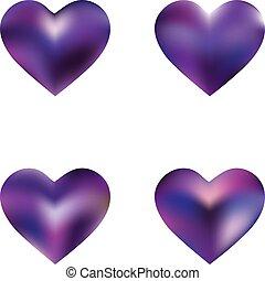 pendenza, sfondi, collezione, hearts.