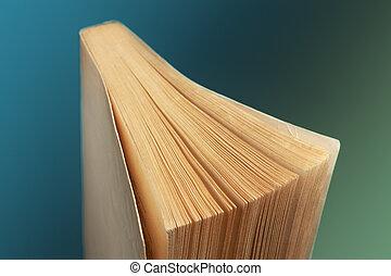 pendenza, singolo, libro, vecchio, fondo