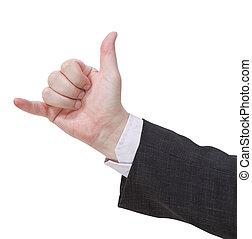 pendez dégagé, -, geste, main