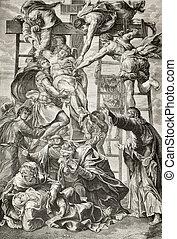 pendiente de la cruz