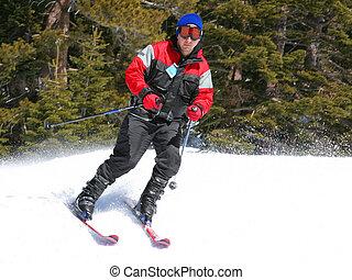 pendiente, esquiador