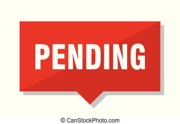 pending red tag - pending red square price tag