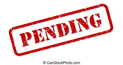 Pending Rubber Stamp Vector - Pending red rubber stamp...