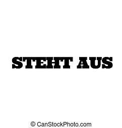 pending stamp on white - pending black stamp in german...