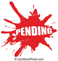 Pending - Stamp with word,pending inside, vector...