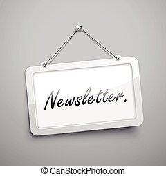 pendre, newsletter, signe