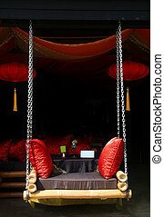 pendre, siège, luxe