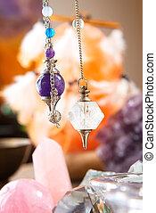 Pendulum and crystals - Pendulums crystal pendulum,...