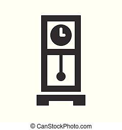 pendulum clock, pixel perfect icon vector illustration