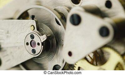 Pendulum clocks running