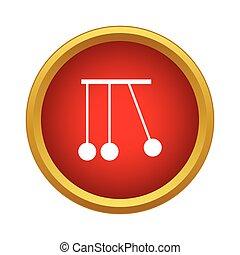 Pendulum of Newton icon, simple style