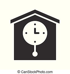 pendulum wall clock, pixel perfect vector icon