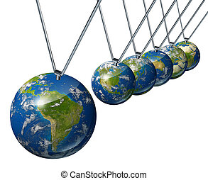 Pendulum with South America as the economic force affecting...