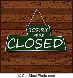 penduradas, sinal fechado