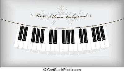 penduradas, text., lugar, teclado, piano, seu