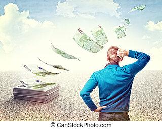 pengar, öde, min