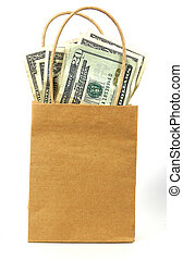 pengar, 2, väska