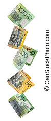 pengar, australier, gräns