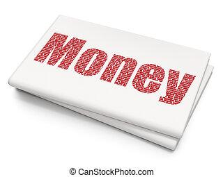 pengar, bankrörelse, bakgrund, tom, tidning, concept: