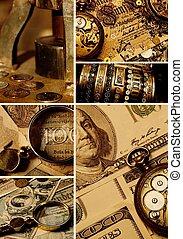 pengar, collage