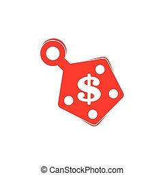 pengar, dekoration, pris tagen, symbol, vektor