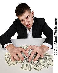 pengar, dollars, rikedom, miljonär