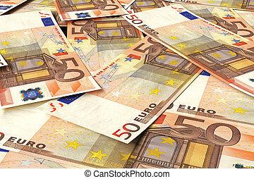 pengar, euro, stack