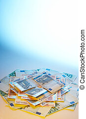 pengar, färgad
