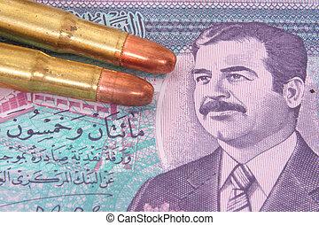 pengar, från, irak