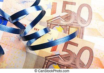 pengar, gåva, band