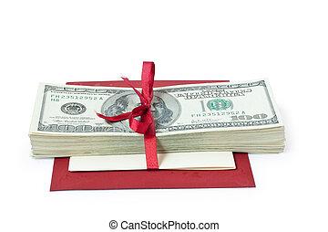 pengar, gåva bocka