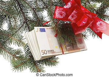 pengar, gåva, röd remsa
