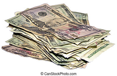 pengar, hög