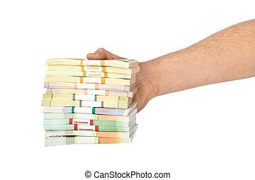 pengar, hand