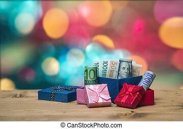 pengar, insida, gåva
