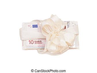 pengar, isolerat, gåva, euro