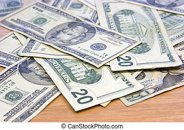 pengar, kontanter